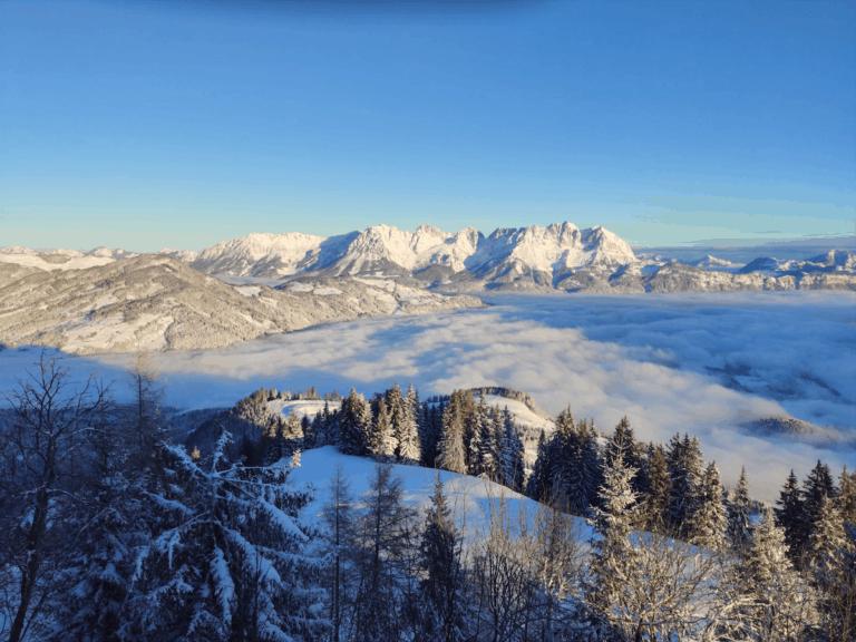 Uitzicht op de Wilder Kaiser vanuit Kitzbühel