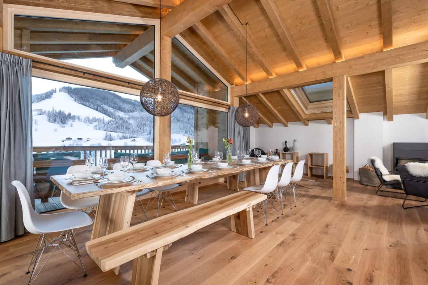 Dineren in luxe lodge Mühlbach am Hochkönig