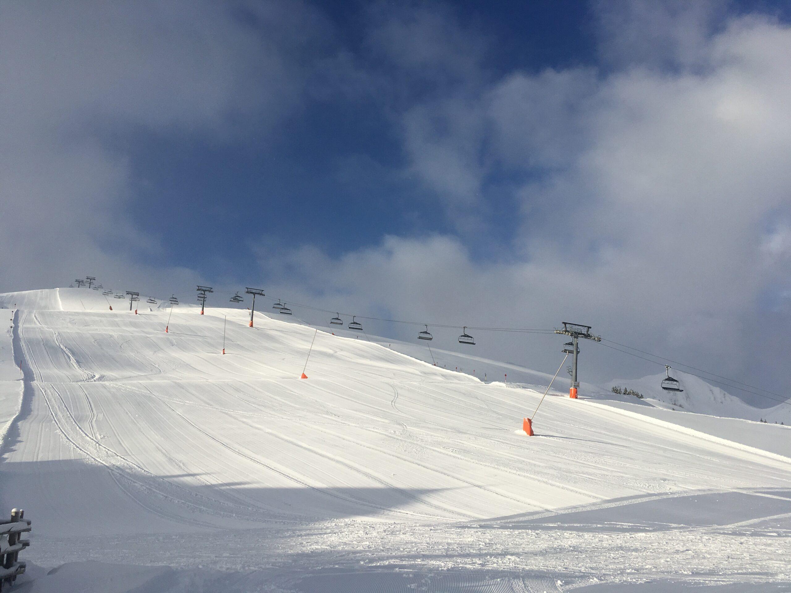 Vers geprepareerde pistes bij alpex