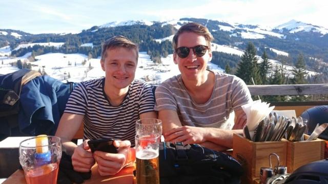 Gidsen Frits Thijs en Jaap Habraken van Alpex Skihuttentochten