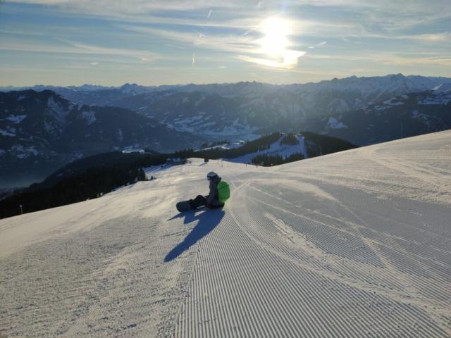 Eerste spoor in Westendorf tijdens Alpex skihuttentocht