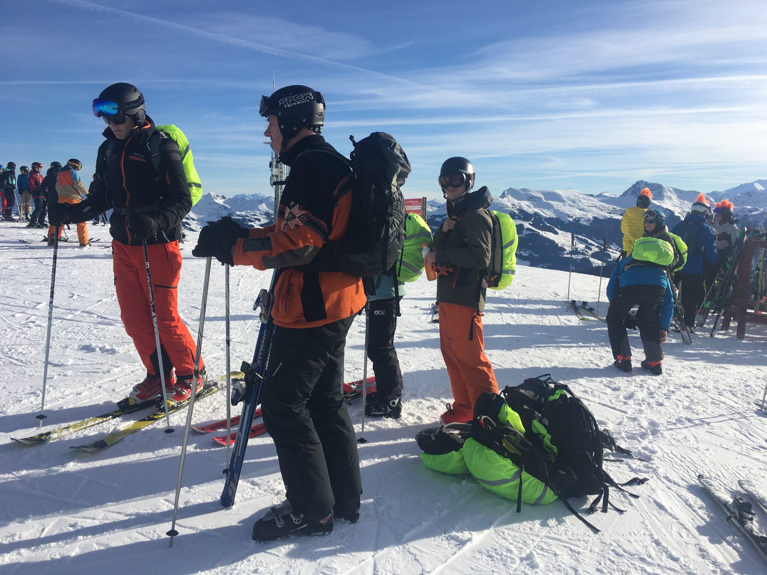 Groep 1 tijdens de alpex skitocht
