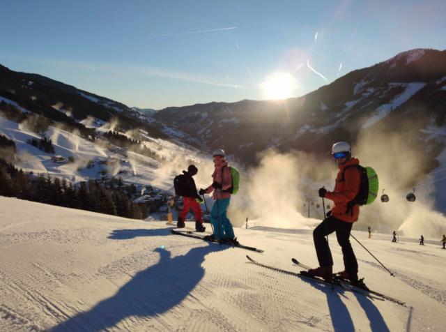 Zonsopkomst tijdens Alpex skihuttentocht